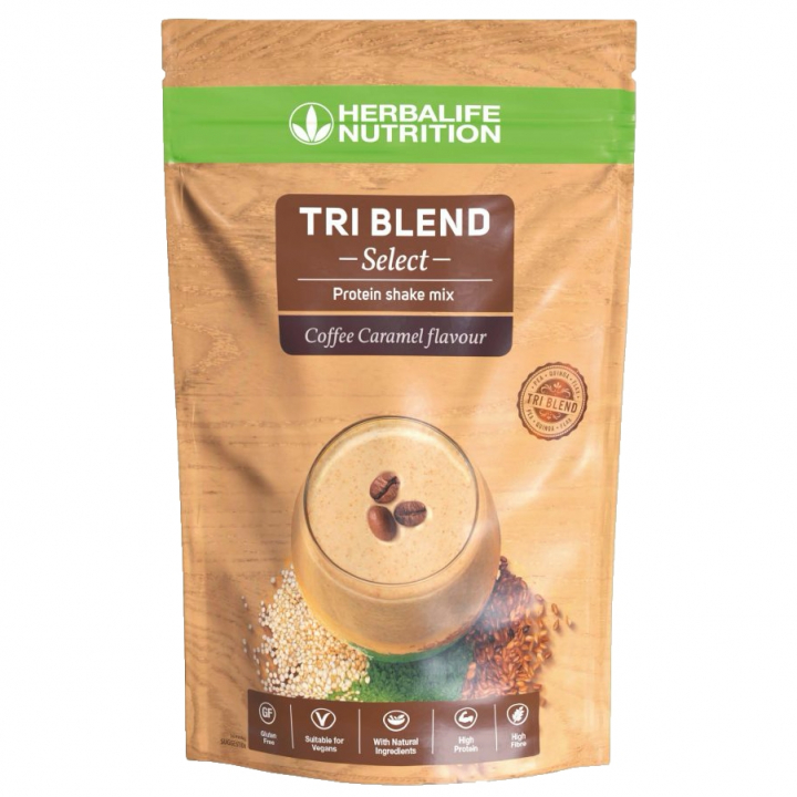 Herbalife Tri Blend Select Protein Shake Mix - Coffee Caramel i gruppen Träning hos Nails Body & Beauty AB (herbalclub.se) (052K)