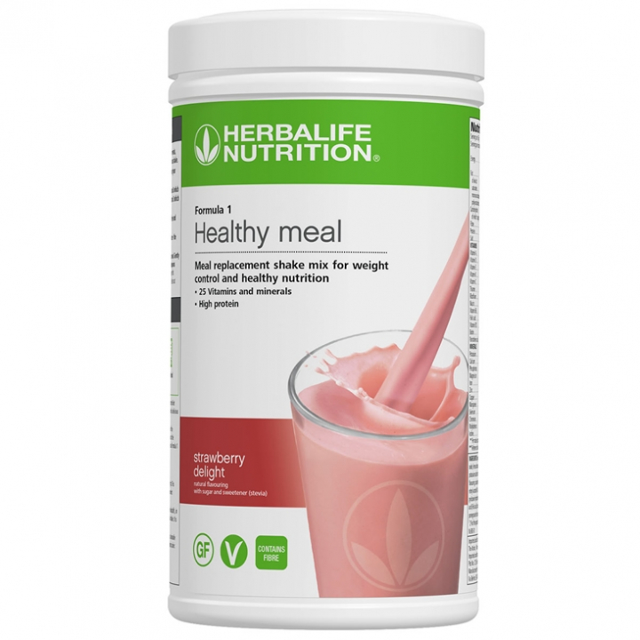 Herbalife Formula 1 - Strawberry Delight - Vegan & Glutenfri i gruppen Viktkontroll hos Nails Body & Beauty AB (herbalclub.se) (4463)
